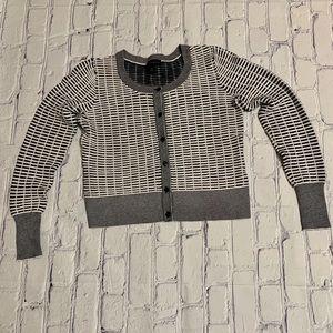 Black & White Ribbed Cardigan Worthington Size S